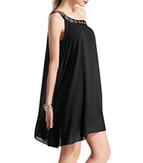Chiffon Charm Cocktail Dress – All Black