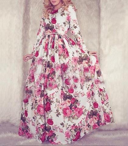 Maxi dress sleeves pattern