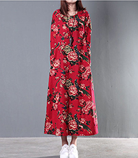 Oriental Floral Dressing Gown – Red / Floral