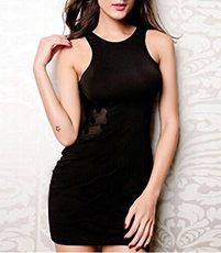 Sleeveless Little Black Dress – Black Burnout Beauty