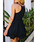 Mini Dress – Black / Plunging Neckline / Perky Sexy Look