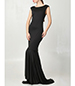 Elegant Evening Gown – Solid Black / Mermaid Style Skirt