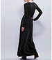 Black Long Sleeved Maxi Dress – Lace Front Detail