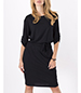 Tabitha Summer Dress – All Black / Straight Tabbed Sleeves