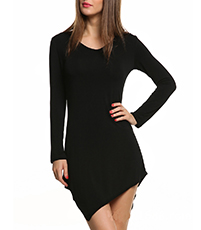 Tantalizing Tanga Mini Dress – Wide Scooped Neckline