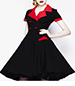 Vintage Dress – Black with Red / Double Breasted