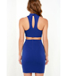 Bold Blue Halter Dress – High Fashion