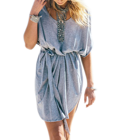 Simple Tunic Dress – Super Washed Blue