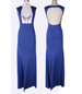 Maxi Dress – Royal Blue / Open Back / Low Cut Front