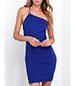 Single Strap Summer Sheath Dress – Blue