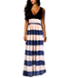 Striped Maxi Dress – Bold Blue / Winter White / Tank Style Bodice