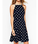 Swingy Sundress – Skater Style / Polka Dot / Royal Blue