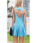 Halter Style Mini Dress – Sky Blue / Cut Out in Back