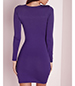 Fitted Mini Dress – Royal Blue / Long Sleeves / Simple Rounded Neckline