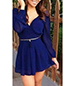Ultra Mini Chiffon Dress – Royal Blue / Plunging Back