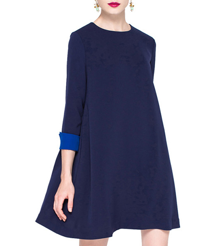 Mini Swing Dress – Midnight Blue / Velvet