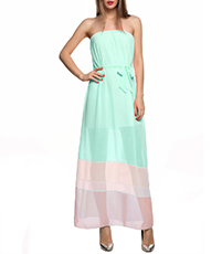 Off The Shoulder Chiffon Maxi Dress – Ice Cream Pastel Shades