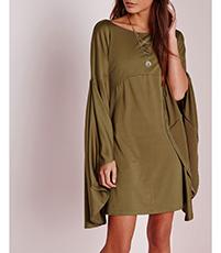 573b7ea9391b Empire Waist Dress – Angel Sleeves / Round Neckline / Short Hemline