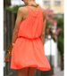 Cute Coral Tank Dress – Flared Mini Style