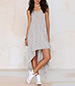 Hi Low Tank Dress – Gray / Swingy Heathered