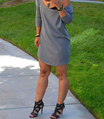 Gray Dresses – Show a Little Shoulder