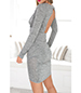 Bodycon Wrap Dress – Light Heather Gray / Long Sleeves