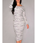 Bodycon Dress – Gray and White / Cutout