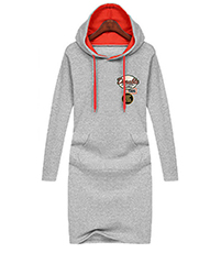 Hoodie Dress – Gray / Contrasting Hood Lining