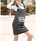 Shift Dress – Medium Gray / Colorfully Worded Logo