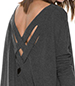 Tunic Top – Charcoal Gray / Crisscross Strap Detail