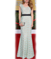 Floor Length Maxi Dress – Flute Shaped Hem / Lacy / Lined / Zippered Closure