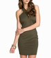 Olive Green Halter Mini Dress – Green with Envy