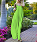 Maxi Dress – Lime Green / Spaghetti Straps / Fitted Loosely