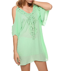 Shift Dress – Sheer Mint Green Chiffon