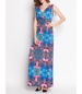 Maxi Dress – Ankle Length / Adjustable Shoulder Ties / V-Neck / Gathered Waist