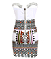 Egyptian Inspired Bustier Dress – Bodycon Style / Border Print Skirt