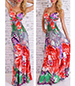 Maxi Dress – Bright Tropical Print / Bustier Bodice