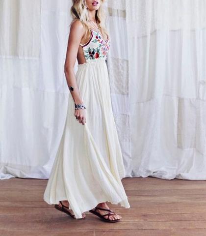 Bodice White Dress