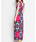 Printed Maxi Dress – Belted Waist / Adjustable Tie Shoulders