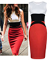 Bodycon Dress – Formfitting / White Red Black