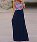 Long Dress – Sleeveless / Split Styling / Chevron Pattern / V-Neckline