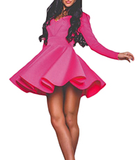 Skater Dress – Bubble Gum Pink / Full Skirt