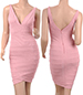 Bandage Mini Summer Dress – Pink / Fitted Petal Skirt