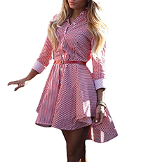 Skater Dress – Demure Gingham Shirtwaist / Bust Darts