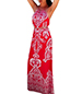 Halter Maxi Dress – Red Print Of Indonesian Art Influence