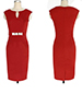 Red Midi Dress – Close Fit / Bodycon Style