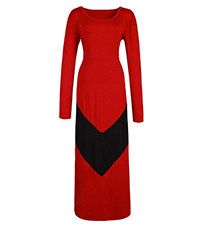 WMNS Maxi Dress – Red Black / Chevron Stripe