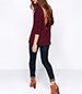 Low Backed Sweater – Maroon / Three Quarter Length Sleeves