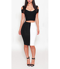 d5b017d48 Nightclub Dress – Split Skirt / Open Waist / Cold Shoulder / Wide Neckline  / Two