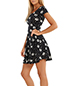 Simple Mini Floral Dress – Black and White Print / Short Sleeves